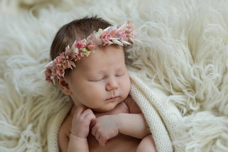 Trockenblumenkranz für Baby
